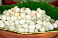 Ovos de codorniz em uma cesta. Imagem de Stock Royalty Free