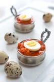Ovos de codorniz fervidos duros Imagens de Stock Royalty Free