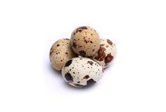Ovos de codorniz, isolados no fundo branco Fotografia de Stock Royalty Free