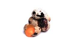 Ovos de codorniz, isolados no fundo branco Imagem de Stock