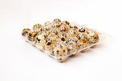 Ovos de codorniz na caixa Imagem de Stock