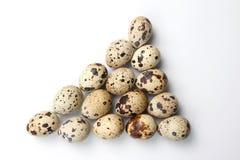 Ovos de codorniz no fundo branco Imagem de Stock Royalty Free