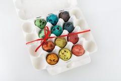 Ovos de codorniz pintados Fotografia de Stock