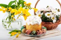 Ovos de codorniz Ovos pintados para Easter Ainda lifes coloridos Imagens de Stock