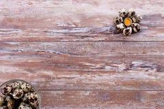 Ovos de codorniz saudáveis Imagens de Stock Royalty Free