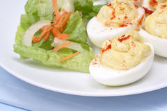Ovos de Deviled Imagem de Stock