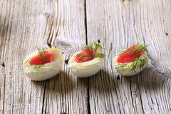 Ovos de Deviled Fotografia de Stock