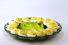 Ovos de Deviled Foto de Stock