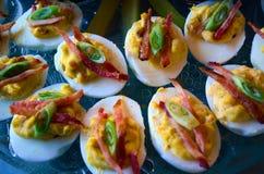Ovos de Deviled Imagens de Stock