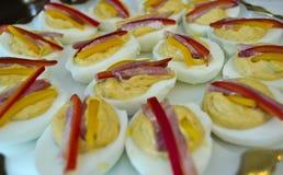 Ovos de Deviled Fotos de Stock Royalty Free