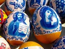 Ovos de Easter agradáveis com imagens Fotografia de Stock Royalty Free