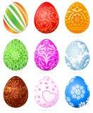 Ovos de Easter ajustados Imagem de Stock