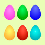 Ovos de Easter ajustados fotos de stock royalty free