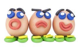 Ovos de Easter alegres cómicos Imagens de Stock
