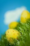 Ovos de Easter amarelos fotos de stock