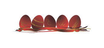 Ovos de Easter, bandeira Fotografia de Stock
