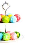 Ovos de Easter coloridos em um vaso. Imagem de Stock