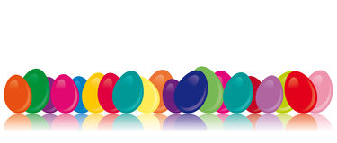 Ovos de easter coloridos - imagem do vetor Imagens de Stock