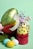 Ovos de easter coloridos isolados Imagem de Stock