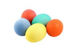 Ovos de Easter coloridos isolados fotografia de stock