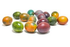 Ovos de Easter coloridos isolados no fundo branco Fotos de Stock Royalty Free
