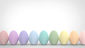 Ovos de Easter coloridos isolados no fundo branco Fotografia de Stock