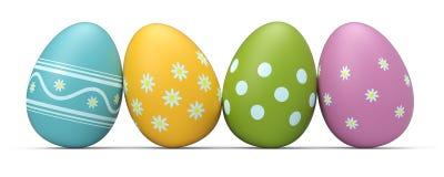 Ovos de Easter coloridos no branco Fotos de Stock