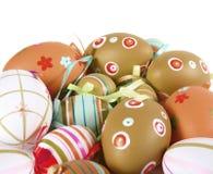 Ovos de Easter coloridos pintados Foto de Stock Royalty Free