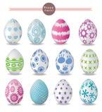 Ovos de Easter coloridos Vetor Fotos de Stock Royalty Free