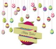 Ovos de Easter de suspensão ilustração stock