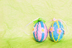 Ovos de easter decorativos Fotografia de Stock Royalty Free
