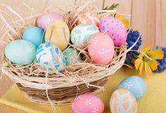 Ovos de easter decorativos fotos de stock