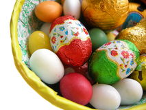 Ovos de easter do chocolate imagem de stock