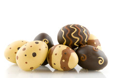 Ovos de easter do chocolate Fotografia de Stock Royalty Free