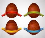 Ovos de easter do chocolate, vetor ilustração stock