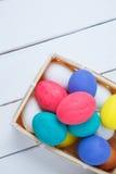 ovos de easter em de madeira Fotografia de Stock