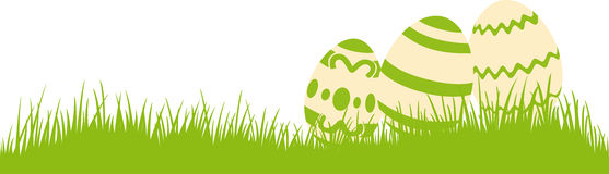 Ovos de Easter em um prado Imagem de Stock Royalty Free