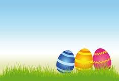 Ovos de Easter em um prado Fotos de Stock