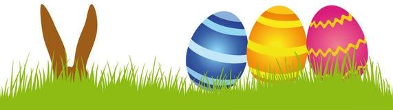Ovos de Easter em um prado Imagem de Stock