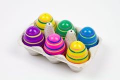 Ovos de Easter em uma caixa Fotografia de Stock Royalty Free