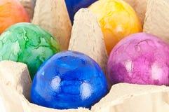 Ovos de Easter em uma caixa imagens de stock