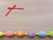 Ovos de Easter em uma fileira Foto de Stock
