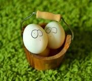 Ovos de easter engraçados Fotografia de Stock