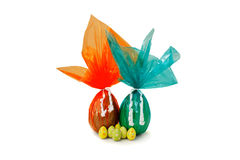 Ovos de Easter grandes e pequenos Foto de Stock Royalty Free