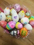 Ovos de Easter Handmade Foto de Stock Royalty Free