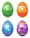 Ovos de Easter. Ilustração do vetor. Imagem de Stock