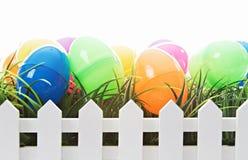 Ovos de Easter isolados no branco Fotos de Stock