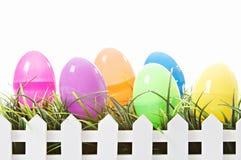 Ovos de Easter isolados no branco Fotografia de Stock