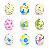 Ovos de Easter isolados no fundo branco Fotografia de Stock