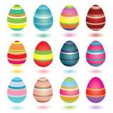 Ovos de Easter listrados ilustração do vetor